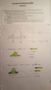 Worksheet 1 from the 21 November Instagram Live Maths Video - Statistics